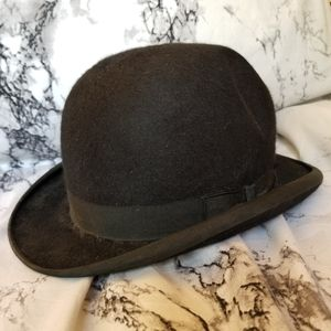 Stetson Black Derby Bowler Hat